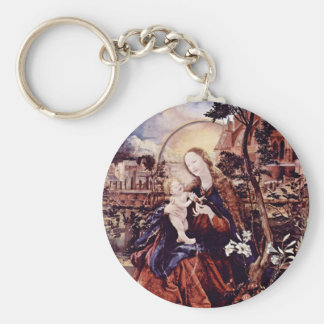 Aschaffenburg Altar Middle Panel: Mary With Child Keychain