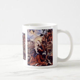 Aschaffenburg Altar Middle Panel Mary With Child Coffee Mug