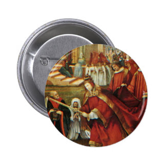 Aschaffenburg Altar Right Wing: Founding Of Santa Pinback Buttons