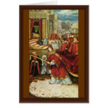 Aschaffenburg Altar Right Wing: Founding Of Santa Greeting Cards
