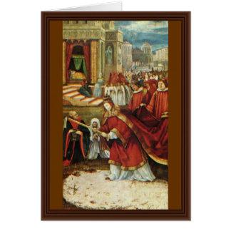 Aschaffenburg Altar Right Wing: Founding Of Santa Greeting Card