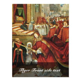 "Aschaffenburg Altar Right Wing: Founding Of Santa 8.5"" X 11"" Flyer"