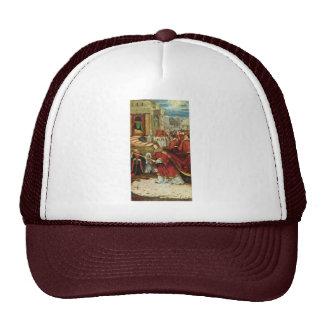 Aschaffenburg Altar Right Wing: Founding Of Santa Trucker Hat