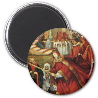 Aschaffenburg Altar Right Wing: Founding Of Santa Refrigerator Magnet