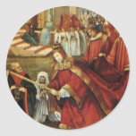 Aschaffenburg Altar Right Wing: Founding Of Santa Round Stickers