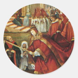 Aschaffenburg Altar Right Wing: Founding Of Santa Classic Round Sticker
