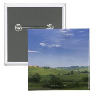 Asciano, Crete Senesi, Siena Province, Tuscany, 2 Inch Square Button