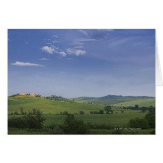 Asciano, Crete Senesi, Siena Province, Tuscany, Greeting Card