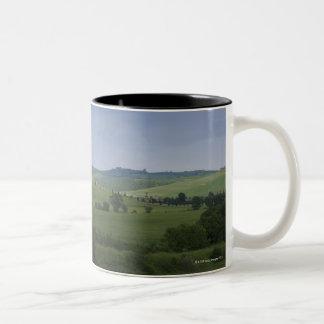 Asciano, Crete Senesi, Siena Province, Tuscany, Two-Tone Coffee Mug
