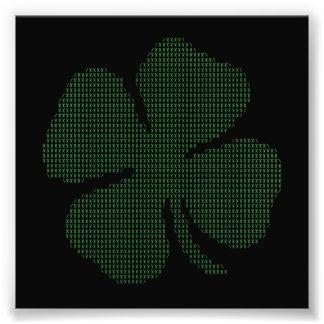 Ascii Art Shamrock Four Leaf Clover Photo Print