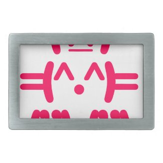 Ascii Bunny - Rabbit Cute Geek Belt Buckle
