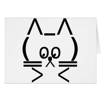 ASCII Cat Card