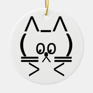 ASCII Cat Ceramic Ornament