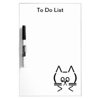 ASCII Cat Dry-Erase Board