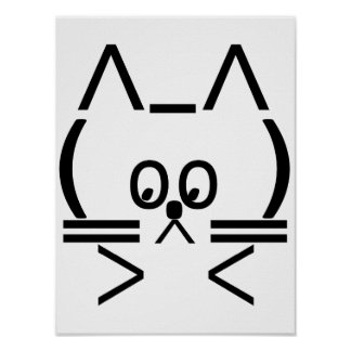 ASCII Cat Poster