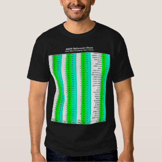 ASCII Chart, CAOS Style Tshirts