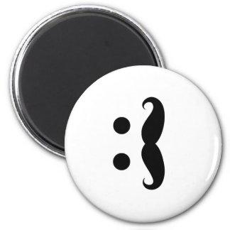 ascii mustache 2 inch round magnet