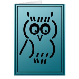 ASCII Owl Card