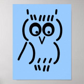 ASCII Owl Poster
