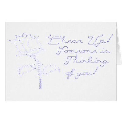 Ascii Art Rose. ASCII Rose - Cheer Up Greeting