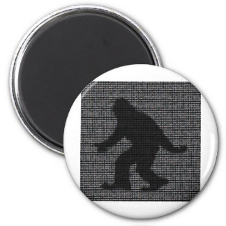 ASCII Squatch Imán Redondo 5 Cm