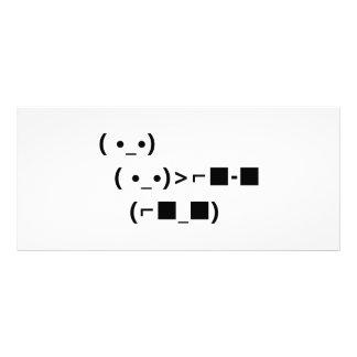 ASCII Unicode Sunglasses Deal With It Rack Card