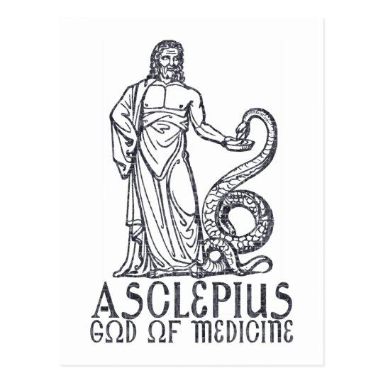 Asclepius Postcard