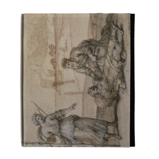 Asclepius Reviving Hippolytus (pen & ink, wash and iPad Cases