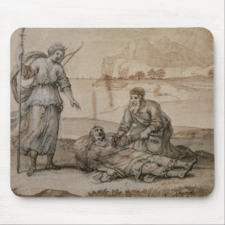 Asclepius Reviving Hippolytus (pen & ink, wash and Mouse Pad