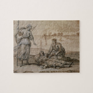 Asclepius Reviving Hippolytus (pen & ink, wash and Jigsaw Puzzles
