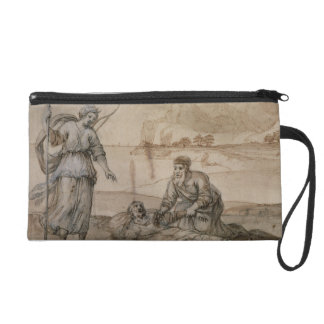 Asclepius Reviving Hippolytus (pen & ink, wash and Wristlet Purse
