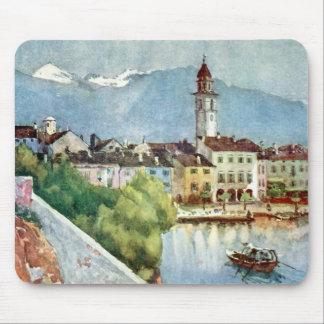 Ascona Switzerland on Lake Maggiore, 1918 Mouse Pad