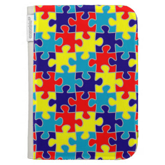 ASD Aspergers Autism Awareness Puzzle Pattern Kindle 3 Cover