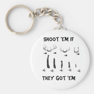 asd, Shoot 'Em IfThey Got 'Em Basic Round Button Keychain