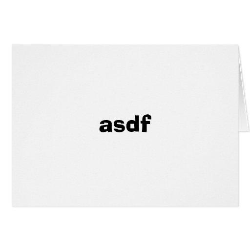 asdf tarjeta de felicitación