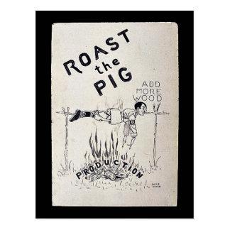 Ase el cerdo tarjeta postal