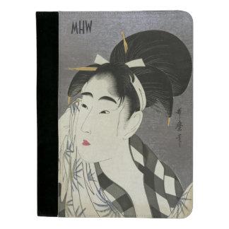"""Ase O Fuku Onna"" art custom monogram pad folio Padfolio"