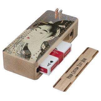 """Ase O Fuku Onna"" custom Cribbage board"