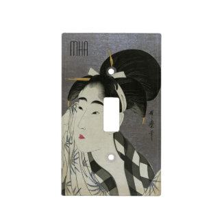 """Ase O Fuku Onna"" custom monogram switch cover"
