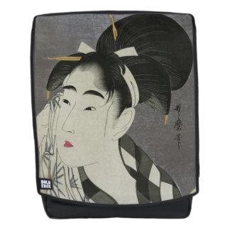 """Ase O Fuku Onna"" Japanese art backpack"
