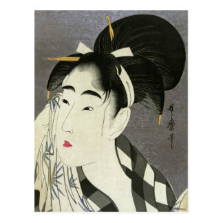 Ase o fuku onna, Utamaro Fine Vintage Japanese Post Card