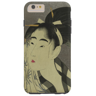 Ase o fuku onna (Woman wiping sweat) by Utamaro Tough iPhone 6 Plus Case
