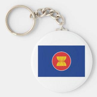 ASEAN Flag Basic Round Button Keychain