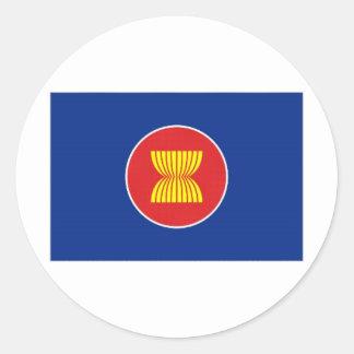ASEAN Flag Classic Round Sticker