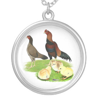Aseel Wheaten Chicken Family Pendants