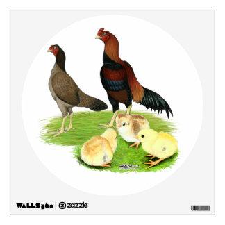 Aseel Wheaten Chicken Family Wall Decal