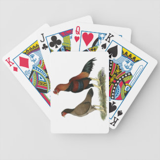 Aseel Wheaten Chickens Bicycle Poker Deck