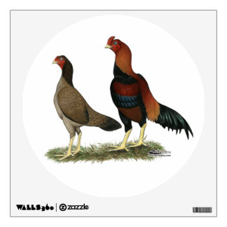 Aseel Wheaten Chickens Wall Sticker