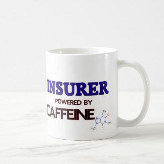 Asegurador accionado por el cafeína taza básica blanca