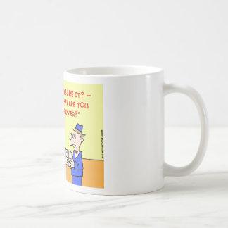 asegurados de la oficina de correos taza de café